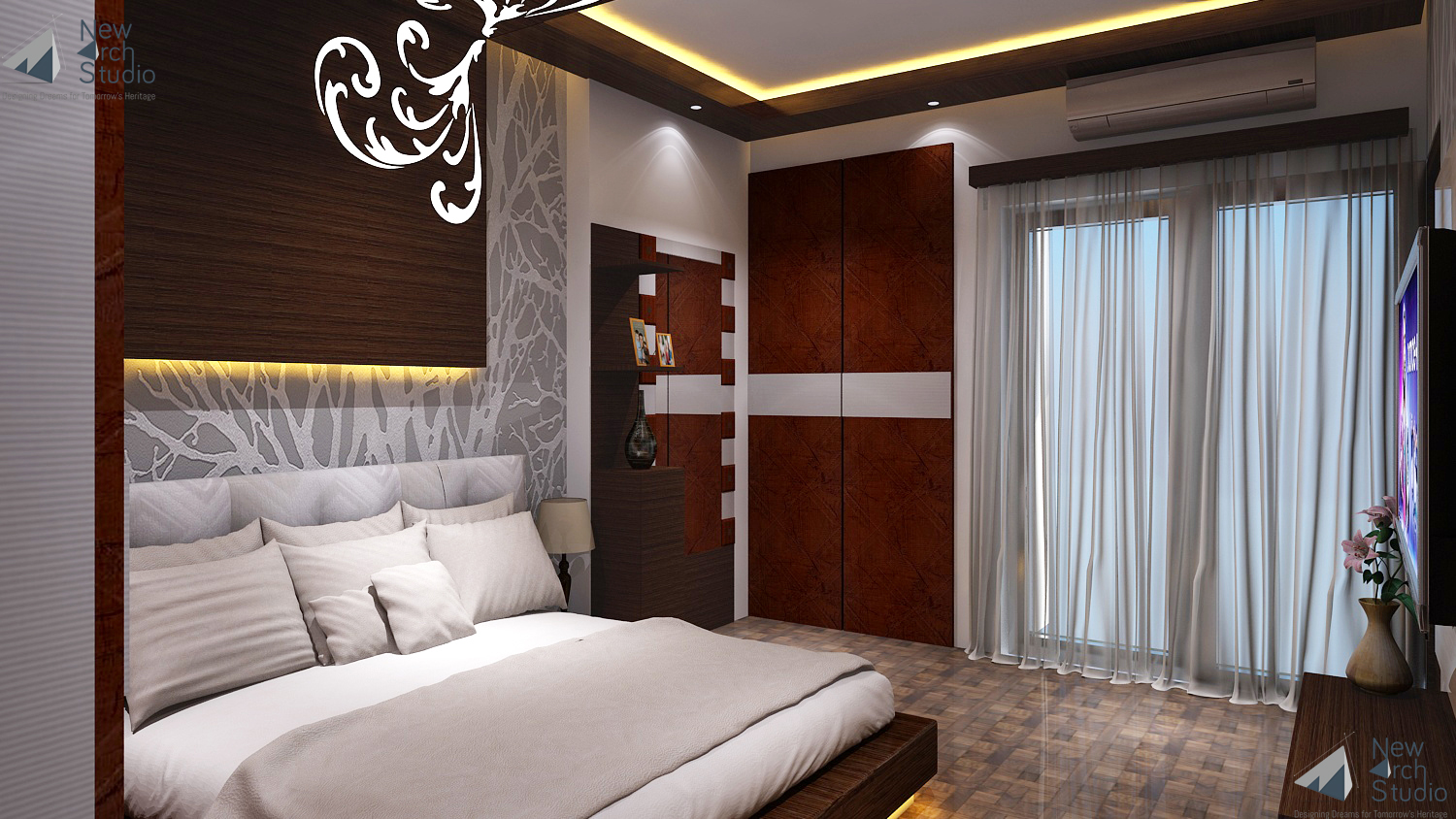 Bedroom Interior Design For Residence Done By New Arch Studio
