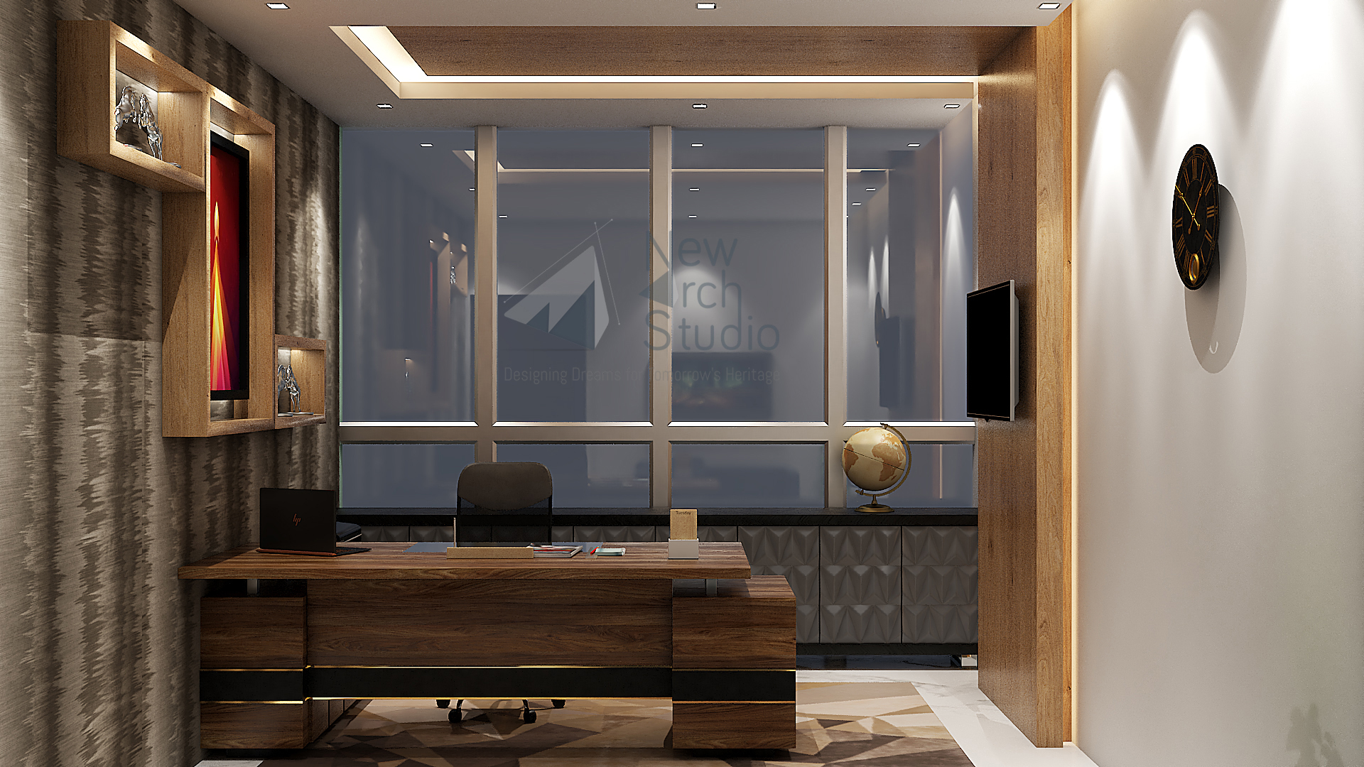 Office Interior Design For I-Thum Office Noida Sec-62 Done By New Arch Studio
