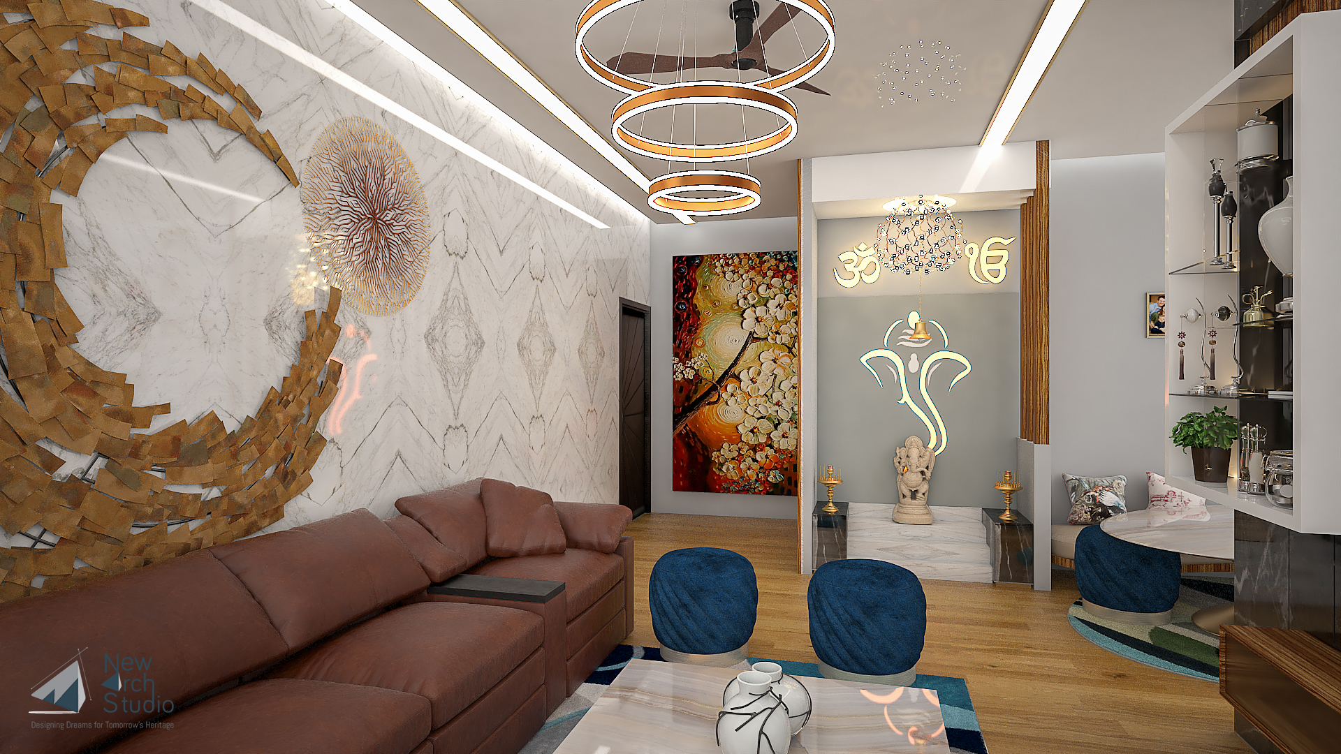 Sunil Shete Residence Interior Design  Done By New Arch Studio