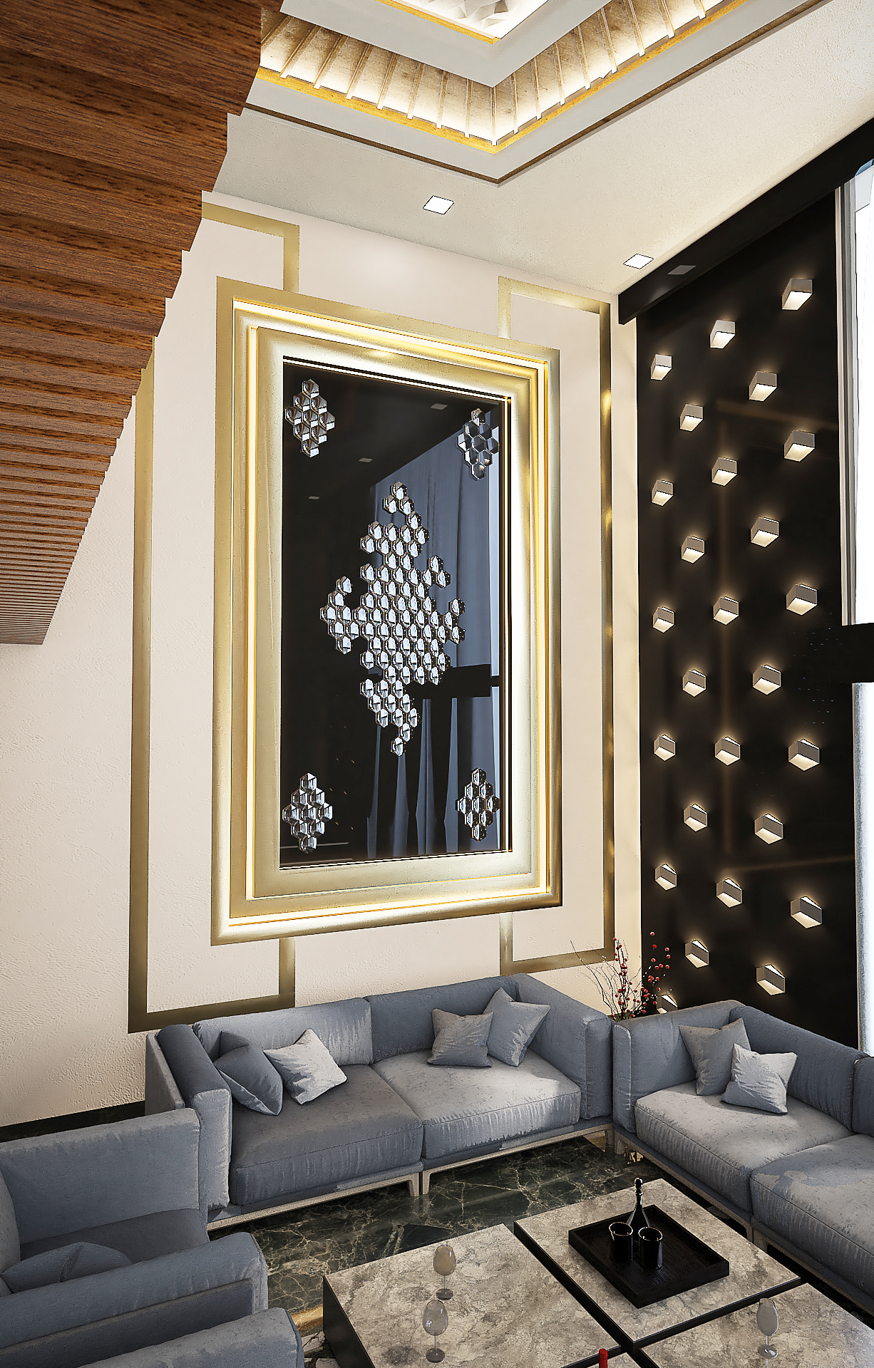 Mr. Raman Bhatia Rohini Delhi Residential Interior Design Done By New Arch Studio