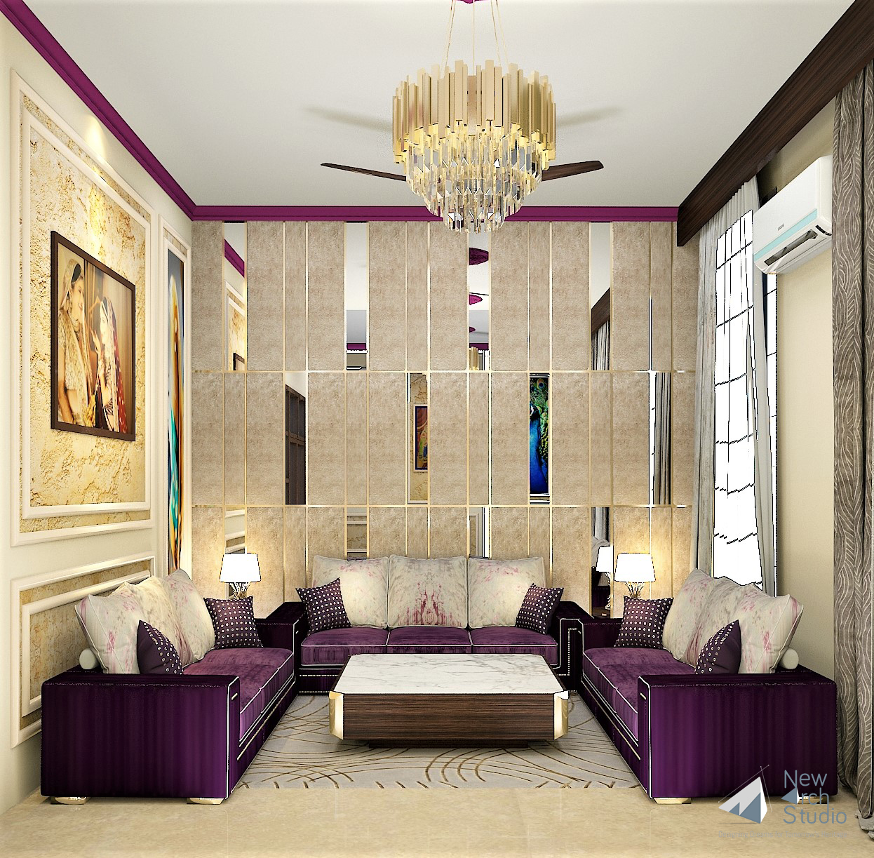 Residential Interior Renovation, Noida Sec-41 Done By New Arch Studio