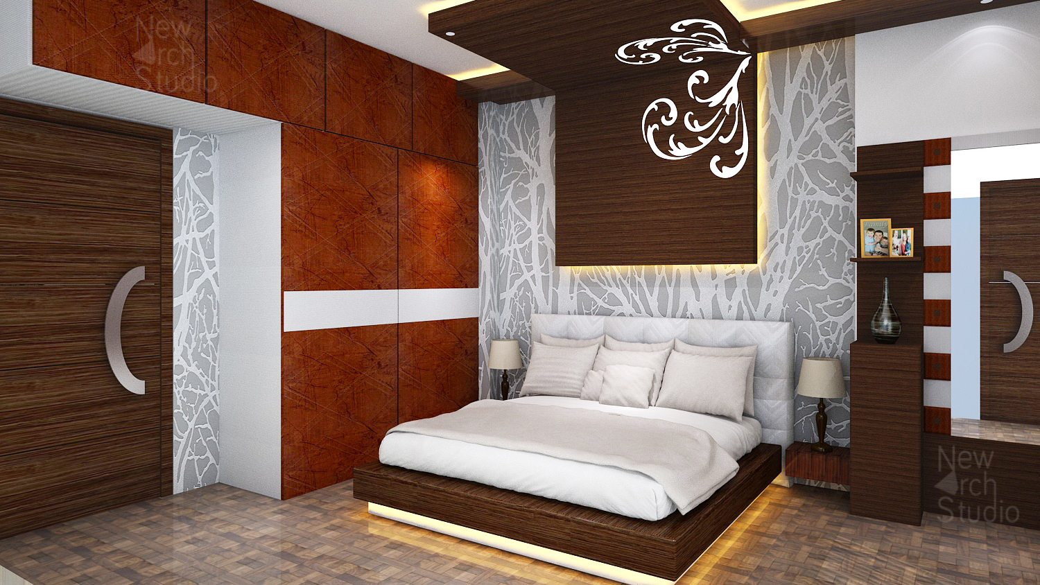 Master bedroom interior design for residence done by new arch studio