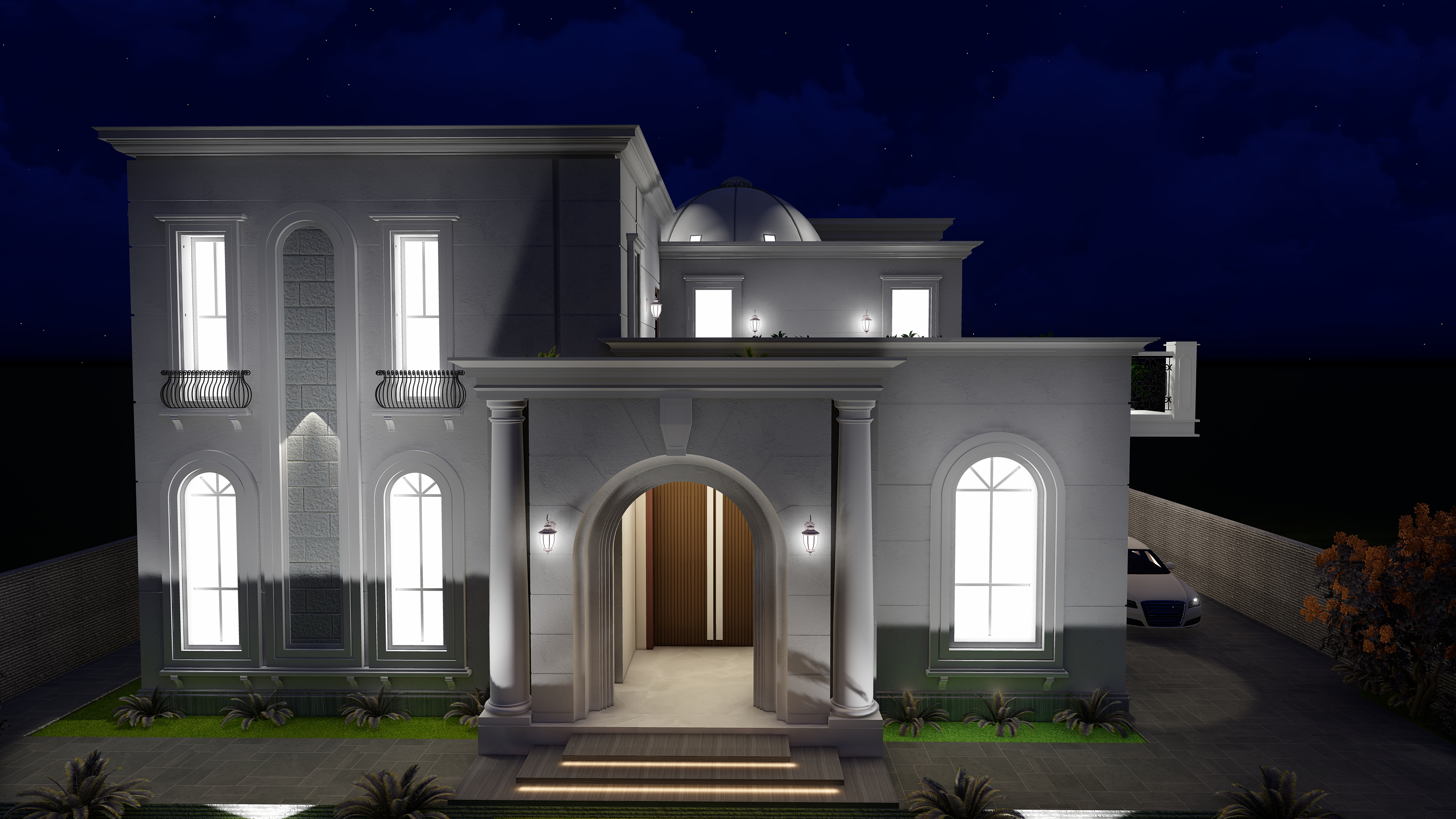 Greater Noida Villa Exterior View Design By Team New Arch Studio